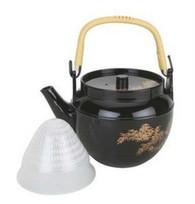Plastic Melamine Teapot Black 22oz