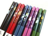 5 Pair Bamboo Chopsticks 5 Color Usagi Bunny #7945