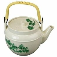 Plastic Melamine Teapot Beige 38oz