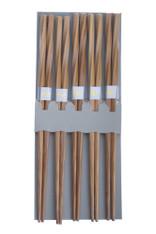 5 Pair Bamboo Chopsticks Twist #0060