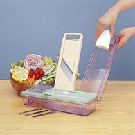 Green Benriner Mandolin Vegetable Slicer with Collection Tray