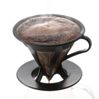 Hario Paperless Coffee Dripper Black Stainless Steel Filter CFOD-02
