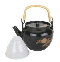 JapanBargain 1626 Plastic Melamine Teapot, Black, 54oz