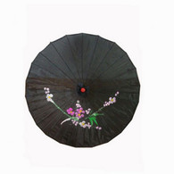 Black Color Oriental Parasol 32in