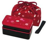 Japanese Traditional Rabbit Blossom Bento Box Set Red