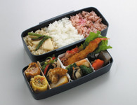 Japanese Modern/Traditional Compartmental 2-Tier Bento Lunch Box Set