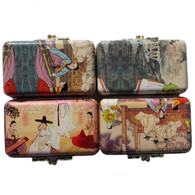 JapanBargain S-2826x4, Set of 4 Korean Makeup Lipstick Case Holder with Mirror