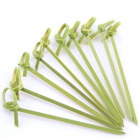 100 Piece Bamboo Skewers Twisted Ends 4 inch