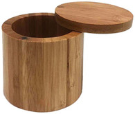 JapanBargain 4112, Bamboo Salt Box Spice Storage Container With Magnetic Lid