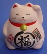 Pink Ceramic Maneki Neko Lucky Cat