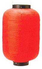 JapanBargain S-1790, Waterproof Vinyl Outdoor Lantern Chochin, Red 18.5-inch