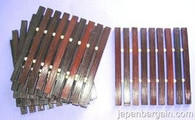 Set of 6 Bamboo Coasters Dark Brown