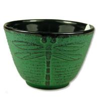 Green Dragonflly Cast Iron Teacup