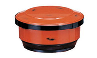 JapanBargain 2072, Red Japanese Rice Serving Container Bowl with Scoop Ohitsu 2-3 Serving for Restaurant or Home
