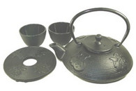Cast Iron Tea Set with Kanji 27oz Black