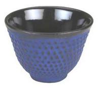 Hobnail Cast Iron Teacup Blue