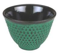 Hobnail Cast Iron Teacup Green