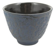 Blue Cast Iron Teacup