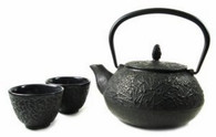 Black Cast Iron Tea Set Pine Needle