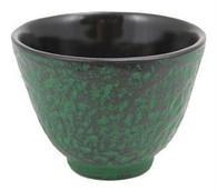 Green Cast Iron Teacup