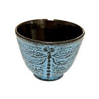 Dragonfly Cast Iron Teacup Light Blue