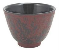 Burgundy Cast Iron Teacup