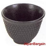Hobnail Cast Iron Teacup Black