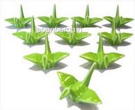 1x Green Porcelain Crane Chopstick Rest
