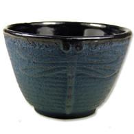 Blue Dragonflly Cast Iron Teacup