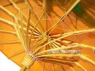 Dark Orange Transparent Chinese Parasol 22in
