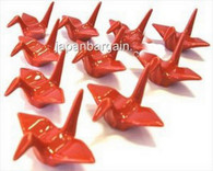 1x Red Porcelain Crane Chopstick Rest