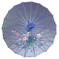 JapanBargain S2177, Kid's Size Japanese Chinese Umbrella Parasol 22-inch, Transparent Blue Color