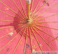 Hot Pink Asian Parasol 22in