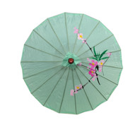 Green Color Japanese Chinese Kid's Size Umbrella Parasol 22 inch