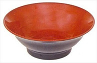 Black/Red Melamine Ramen Noodle Soup Bowl 8-inch