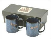 Dragonfly Porcelain Coffee Mug Set