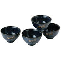 Dragonfly Porcelain Rice Bowl Set
