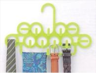 Japanese Plastic Tie Belt Hanger Lime Color