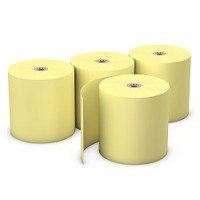 "Choice™  Yellow Bond Paper, 3"" x 165', 50 Rolls"