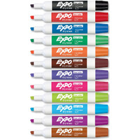 Dry Erase Markers, Assorted Colors, 18pk