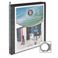 "Round Ring View Binder, 1/2"" Black"