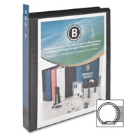 "Round Ring View Binder, 1"" Black"