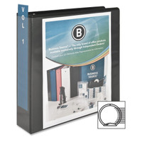 "Round Ring View Binder, 2"" Black"