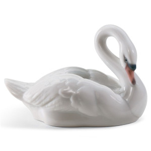 Lladro Porcelain Elegant Swan Figurine 01008271
