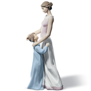 Lladro Porcelain Someone To Look Up To Mother Figurine 01006771