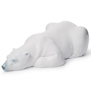 Lladro Porcelain Snow King Bear Figurine 01008413