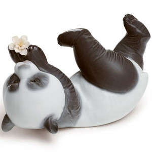 Lladro Porcelain A Joyful Panda Figurine 01008356