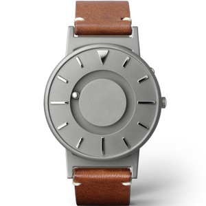 Eone Bradley Classic Braille Italian Brown Leather Strap Watch BR-BRWN