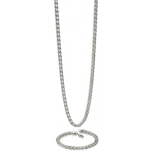 Fred Bennett Heavy Spiga Silver Medium Link 56cm Necklace N4148