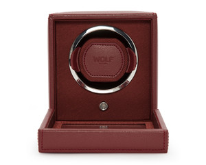 Wolf Cub Single Watch Winder With Glass Cover Bordeaux 461126
